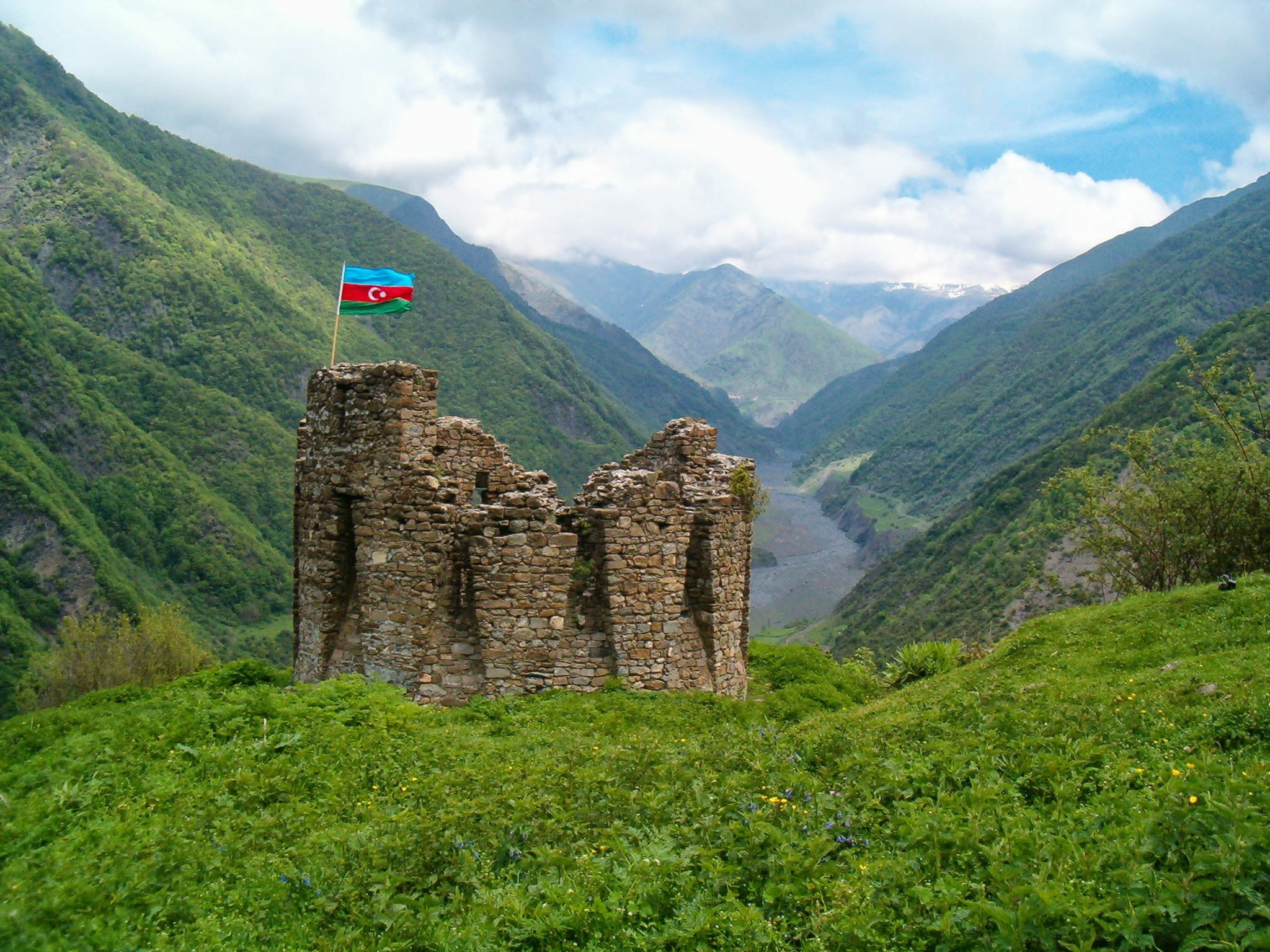 """tourism in azerbaijan Azerbaijan flag nicknamed the """"city of winds"""" and renowned for severe winter  snowstorms, baku is the capital for the republic of azerbaijan."""